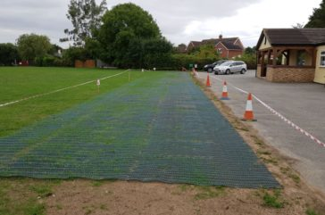 Grassmesh overflow parking- ground protection
