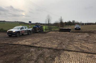 Access route across farm land