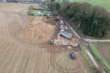 HGV access on farm land with roadway mats