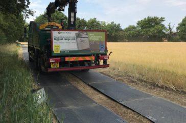 Duradeck construction haul road