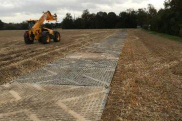 Heavy duty construction haul road