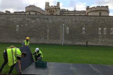 Tower of London- ground protection hire with Duradeck trackway
