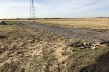 Trackway protecting SSSI ground