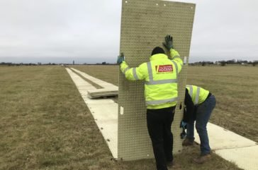 Trakmat ground protection- install