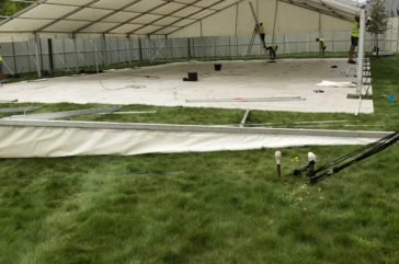Ultradeck marquee flooring at festival