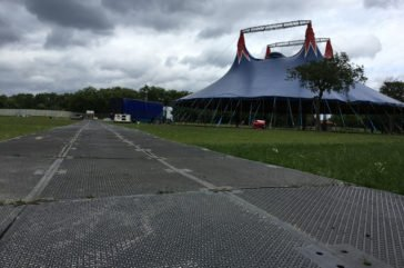 Trade access for festival trafic- ground protection