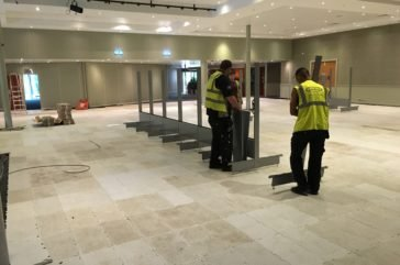 Floor protection by Ultradeck tiles