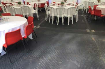 Marquee matting for private event