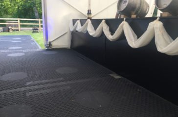 Marquee flooring for wedding