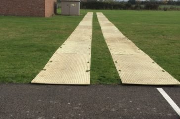 Trakmat trackway for crane access