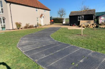 Private event, trackmat ground protection
