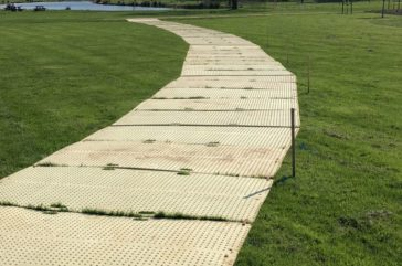 Trakmat grass protection access road